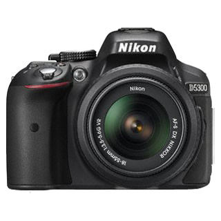 Nikon D5300 Digital SLR with 18-55mm VR II Lens - Black